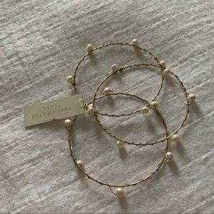 NWT Gold & Pearl Bangle Bracelets